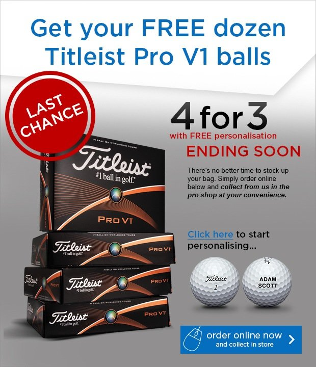 Titleist 4 for 3 - save £42.99